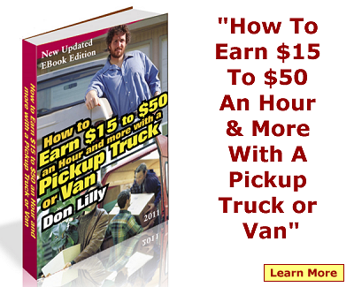 make money with pickup or van